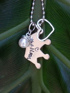 Hand Stamped Crown with name by Metallic Kreations www.etsy.com/shop/metallic kreations