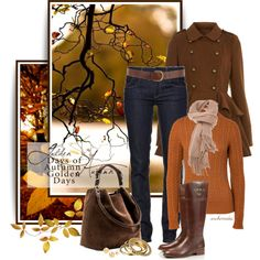 """""""Golden Days of Autumn"""" by archimedes16 on Polyvore"""