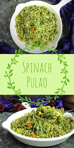 Spinach Pulao Recipe how to make palak pulao recipe spinach rice easy healthy lunch box recipes Vegetarian Tastebuds indian vegetarian recipes veg recipes Lunch Recipes Indian, Lunch Box Recipes, Easy Indian Vegetarian Recipes, Sushi Recipes, Snacks Recipes, Noodle Recipes, Curry Recipes, Recipes Dinner, Recipies