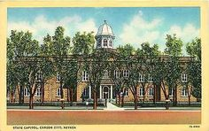 Carson City Nevada NV 1937 State Capitol Collectible Antique Vintage Postcard Carson City Nevada NV 1937 State Capitol. Unused Curteich collectible antique vintage postcard in very good condition with