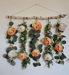 Flower Wall Backdrop, Hanging Flower Wall, Floral Backdrop, Wall Hanging Decor, Wall Flowers, Wall Hangings, Flower Room Decor, Flower Decorations, Bedroom Flowers