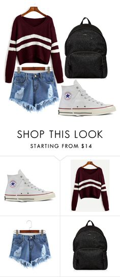 """School"" by kekeu-braz on Polyvore featuring Converse and Hogan"