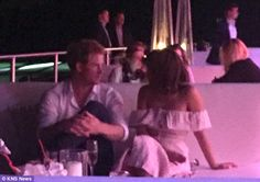 Prince Harry and Jenna Coleman spotted in a very cosy chat at polo | Daily Mail Online