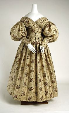 Afternoon dress (front view) Date: ca. 1835 Culture: American Medium: wool, silk Accession Number: C.I.54.48a, b