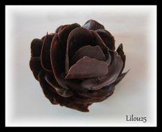 Tutoriel d'une rose en chocolat