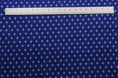 flot Blå patchwork stof med lyseblå stjerner