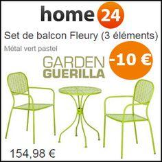 #missbonreduction; Réduction de 10 € pour votre commande sur le Set de balcon Fleury (3 éléments) chez Home24. http://www.miss-bon-reduction.fr//details-bon-reduction-Home24-i854755-c1825971.html