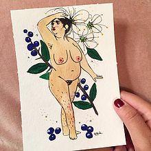 """Tussa E-post :: """"Godt begyndt / Good start"""" by Strikkoman Drawing Challenge, Art Challenge, Doodle Lettering, Black Artists, Brown Paper, Cool Cards, Nice Body, Illustrators, Etsy Shop"""