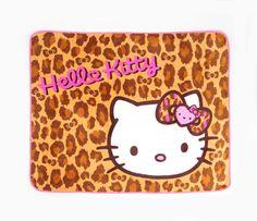 Hello Kitty Throw Blanket: Leopard