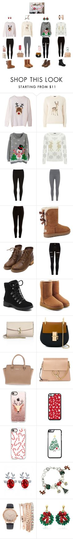 """Untitled #123"" by loveyourlife03 ❤ liked on Polyvore featuring Dorothy Perkins, M&Co, Mint Velvet, River Island, UGG, G.H. Bass & Co., Dolce&Gabbana, Chloé, Michael Kors and Casetify"