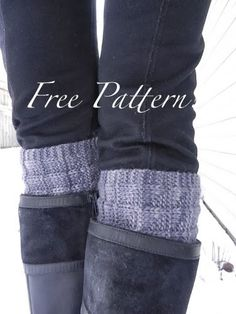 2-Needle Boot Toppers / Cuffs--these are knit sideways, using a provisional cast on and 3-needle bind off.  Sounds good!