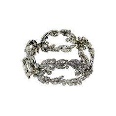 Cartier diamond and platinum bracelet from 1stdibs