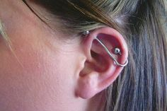 i need to find a place to get cool industrial bars like this Industrial Bar Earring, Industrial Piercing, Industrial Bars, Ear Jewelry, Jewlery, Bar Earrings, Body Modifications, Tatting, Body Art