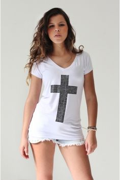 #T-shirt Cross Black