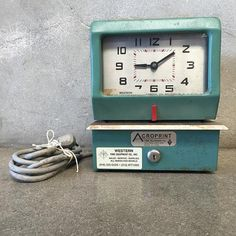 Vintage Acroprint Employee Time Clock - The clock I use presently in my shop is the 90's plastic version of this model.