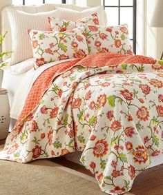 Another great find on #zulily! Cream Brittany Reversible Quilt Set #zulilyfinds