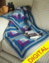 Quilted #Throw Digital #Crochet Pattern from Love of Crochet magazine, Spring 2015