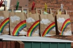 The rainbow party bags