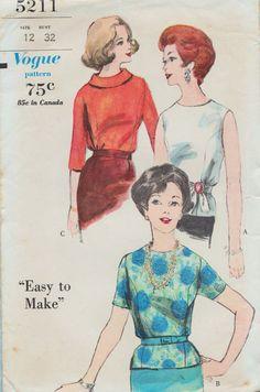 Schnittmuster Vogue 5211 / Vintage 60er Jahre / von studioGpatterns