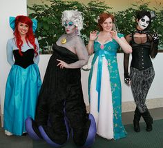 Ariel, Ursula, Giselle, and Lady Jack Skellington by Jonno212, via Flickr
