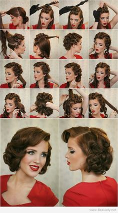 Hairstyle Upright Pin Curls Tutorial http://www.freckled-fox.com/2013/09/modern-pin-up-week-5-upright-pin-curls.html