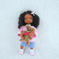 Ooak, Handmade, Miniature, Girl Doll, 1:12th