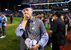 Sporting News: Bill Murray reacts on the field after the Chicago...