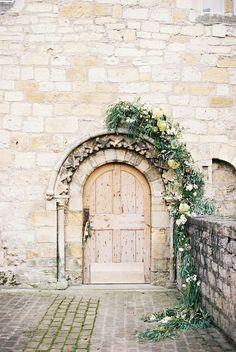 Flower-framed doorway