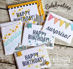 Had way too much fun with the Birthday Surprise stamp set!  ~Mercedes Weber