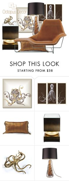 """""""35 - Octopus Decor"""" by neicy-i ❤ liked on Polyvore featuring interior, interiors, interior design, home, home decor, interior decorating, Dot & Bo, Natural Curiosities, Frontgate and Global Views"""