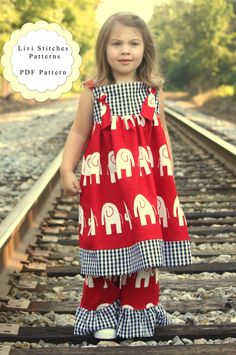 Vivian Knot Dress Pattern- Instant Download PDF Pattern and Tutorial- Childrens Sewing Patterns- Sizes 6-12m through 12 auf Etsy, 3,90 €