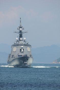 Aegis-equipped destroyer of Japan Navy, Kurushima, Japan
