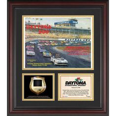 Fanatics Authentic 1981 Daytona 500 Program 3 Photograph Core Collage with Sprint Tower Banner-Limited Edition of 500 - $89.99