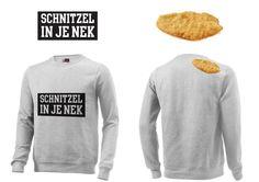 Super coole sweaters met opdruk gemaakt #schnitzelinjenek