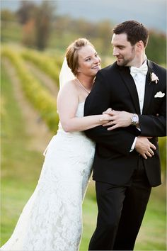 Katherine and Joseph's classic Virgina wedding at Breaux Vineyards.
