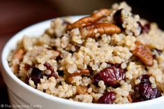 Clean Eating Cranberry Pecan Quinoa