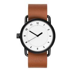 TID No.1 36 10200104  - Horloge - Leer - Bruin - 36 mm