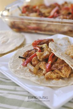Baked Fajitas make for an easy and delicious dinner any night!