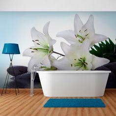Fototapeta - Czyste, białe lilie