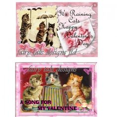This is a wonderful set of two altered art valentines day cats cards.  These make great items for your scrapbook, or print them as valentines day cards.  You can print these as many times as you like, year after year.  They will be emailed to you in jpeg format within 24 hours of purchase.  The images used are public domain so there is no copy write issues.  You can use these for anything you like, the only thing you cannot do is resell these in digital form.  The altered art is a orginal…