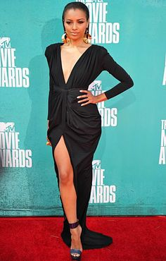 Kat Graham, love the slick hair with the low cut