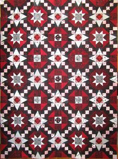 Cool Black, White and Red quilt