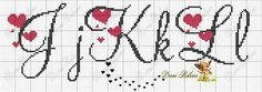 Ideas embroidery patterns free letters cross stitch for 2020 Cross Stitch Letters, Cross Stitch Borders, Cross Stitch Baby, Cross Stitch Designs, Cross Stitching, Cross Stitch Embroidery, Embroidery Alphabet, Embroidery Patterns Free, Crochet Stitches Patterns