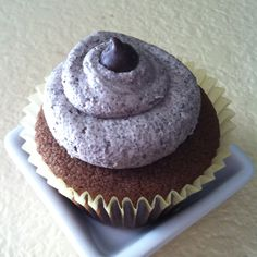Chocolate Cuppie with Oreo buttercream frosting.
