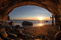 Mystic Beach Cave by Lisa Bettany on 500px ~ Vancouver Island