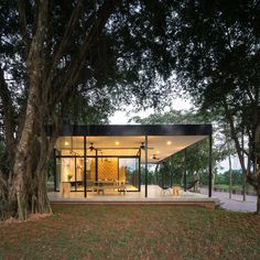 Completed in 2016 in Thị xã Sơn Tây, Vietnam. Images by Trieu Chien. Among the grapefruit garden of a large farm, Mian Farm Cottage has a fine view of Ba Vi mountain range. The owners of the farm aim to create a place...