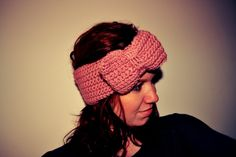 Crocheted bow headband tutorial