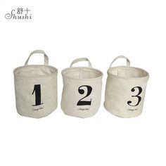 Linen Fabric Kid Toys Waterproof Canvas Beam Laundry Basket Tree Bear Hedgehog Pattern Cotton Linen Washing Clothes Storage Bask