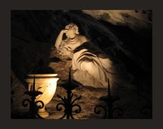Reclining statue of Mary Magdalene in the Grotto of Mary Magdelene