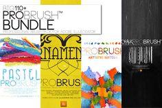110 Brushes BUNDLE - ProBrush™ by Leonard Posavec on Creative Market